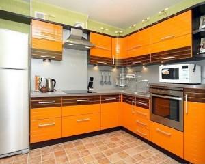Кухня с фасадом Эмаль-003