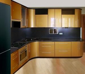 Кухня с фасадом Эмаль-007
