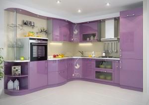 Кухня с фасадом Эмаль-008