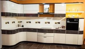 Кухня с фасадом Эмаль-010