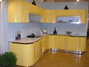 Кухня с фасадом Эмаль-011