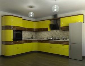 Кухня с фасадом Эмаль-012