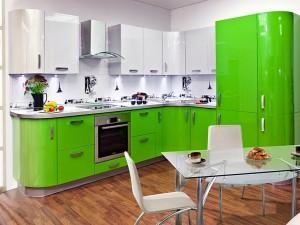 Кухня с фасадом Эмаль-013