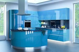Кухня с фасадом Эмаль-014
