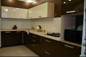 Кухня с фасадом Эмаль-015