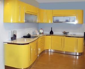Кухня с фасадом Эмаль-017