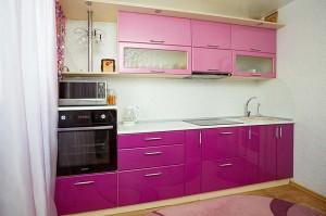Кухня с фасадом Эмаль-018
