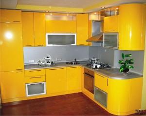 Кухня с фасадом Эмаль-019
