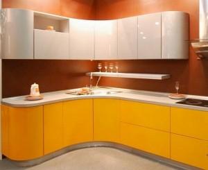 Кухня с фасадом Эмаль-020