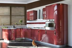 Кухня с фасадом Эмаль-021