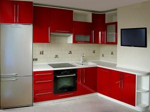 Кухня с фасадом Эмаль-022