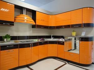 Кухня с фасадом Эмаль-025