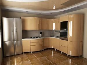 Кухня с фасадом Эмаль-026