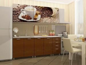 Кухня с фотопечатью-005
