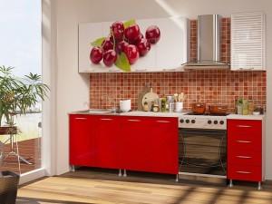 Кухня с фотопечатью-006