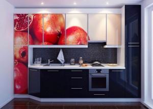 Кухня с фотопечатью-016