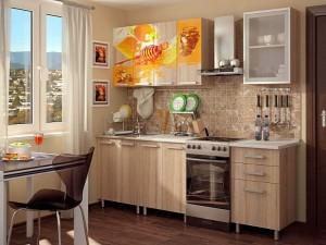 Кухня с фотопечатью-021