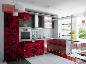 Кухня с фотопечатью-022