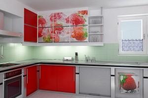 Кухня с фотопечатью-023