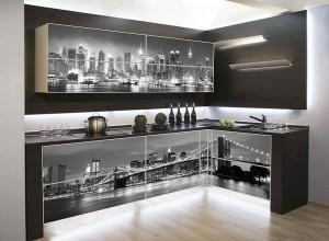 Кухня с фотопечатью-032