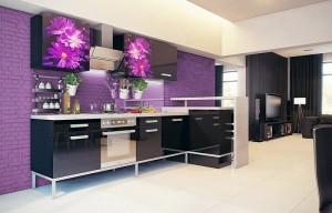 Кухня с фотопечатью-036