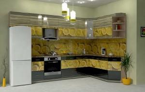 Кухня с фотопечатью-044