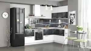 Кухня с фотопечатью-046