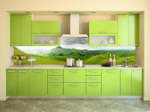 Кухня с фотопечатью-049