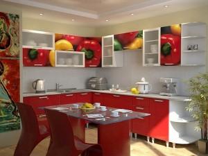 Кухня с фотопечатью-050