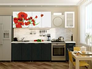 Кухня с фотопечатью-051