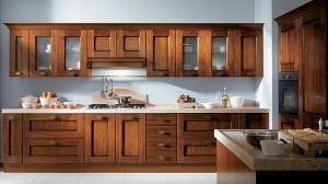 Кухня с фасадом Массив-017
