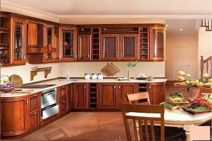 Кухня с фасадом Массив-021