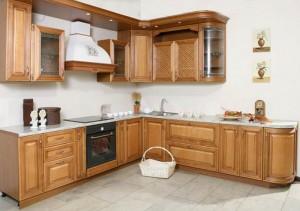 Кухня с фасадом Массив-022