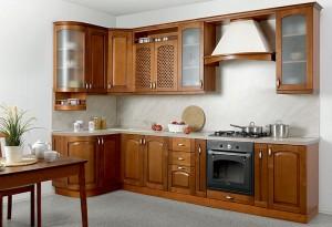 Кухня с фасадом Массив-023