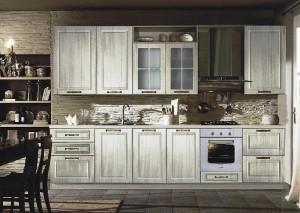 Кухня с фасадом Патина-001