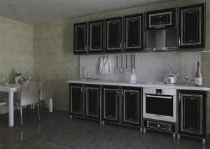 Кухня с фасадом Патина-002