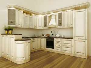 Кухня с фасадом Патина-004