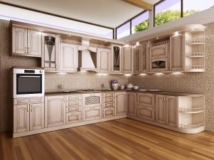Кухня с фасадом Патина-009