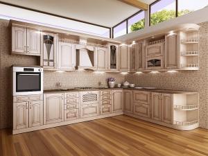 Кухня с фасадом Патина-010