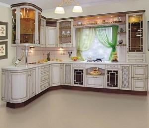 Кухня с фасадом Патина-011