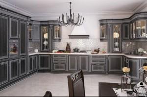 Кухня с фасадом Патина-013