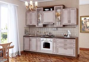 Кухня с фасадом Патина-014