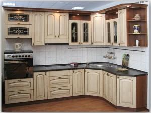 Кухня с фасадом Патина-015