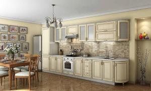 Кухня с фасадом Патина-016