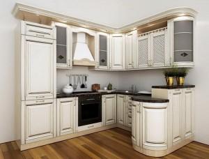 Кухня с фасадом Патина-017