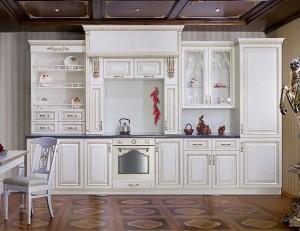 Кухня с фасадом Патина-018