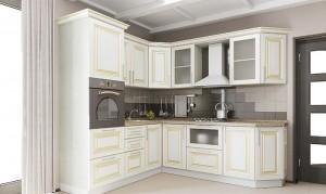 Кухня с фасадом Патина-019