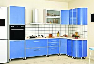 Кухня с фасадом Пластик-001