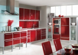 Кухня с фасадом Пластик-002