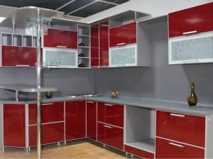 Кухня с фасадом Пластик-003